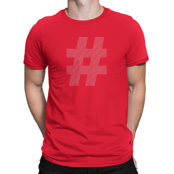 Hashtag Symbol Shirt Red