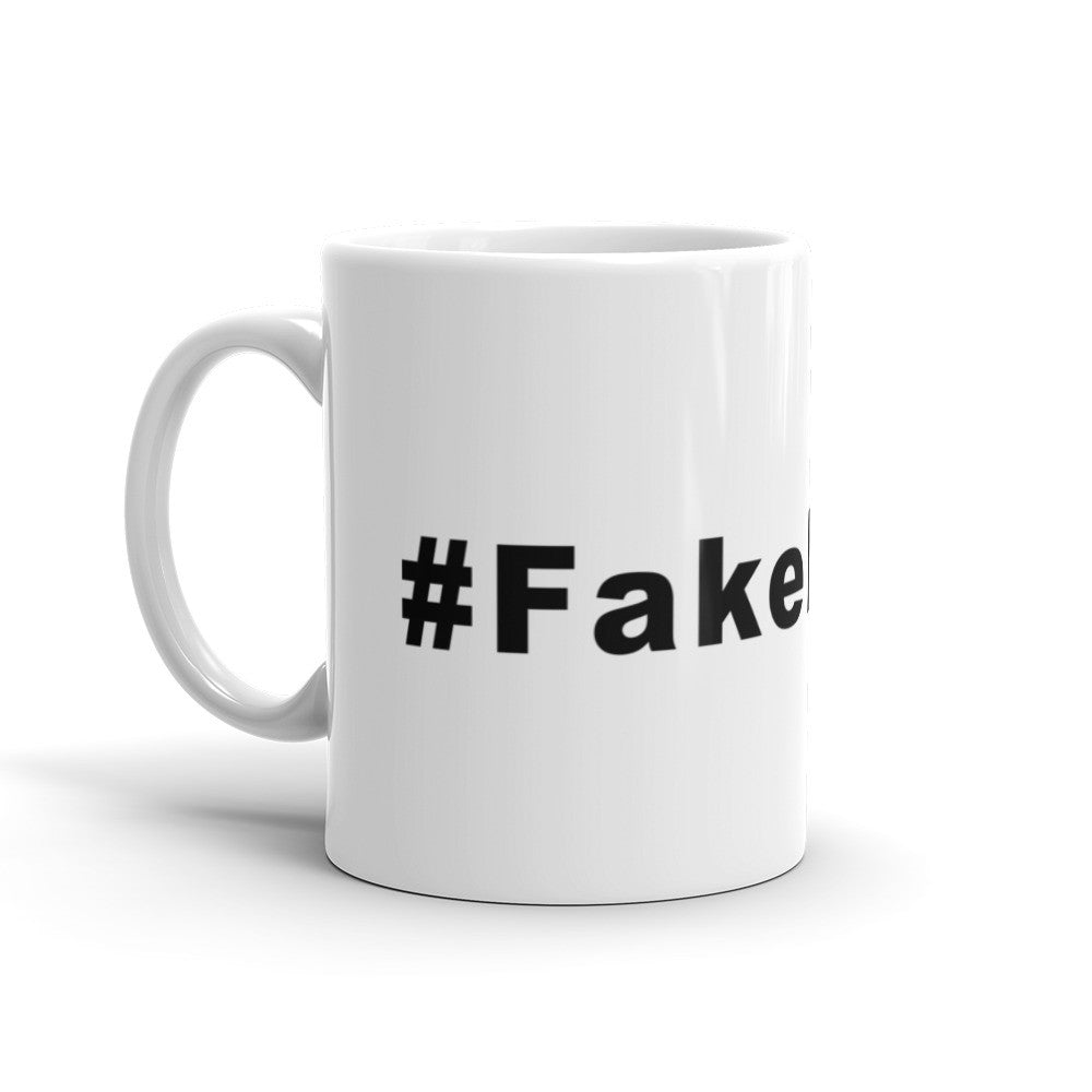 Fake News Hashtag Coffee Mug