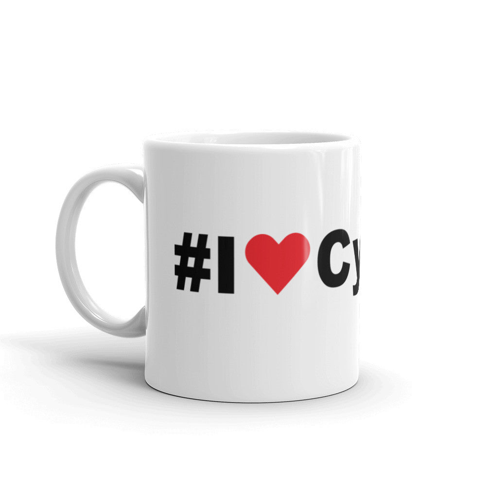 I Love Cycling Coffee Mug