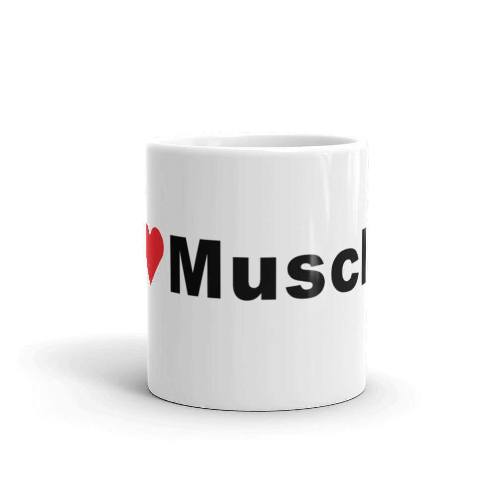 I Love Muscles Hashtag Coffee Mug