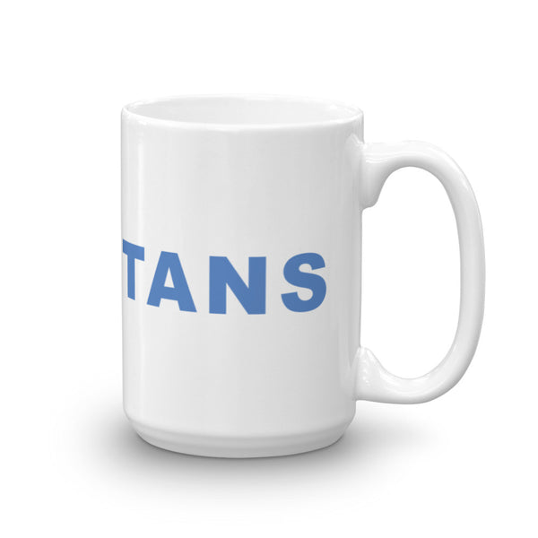 Go Titans Football Hashtag Coffee Mug Light Blue
