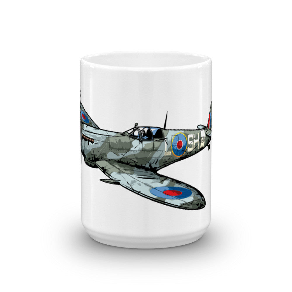 British Spitfire Airplane Coffee Mug
