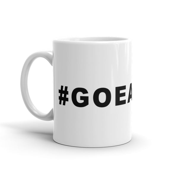 Go Eagles Football Hashtag Coffee Mug Black