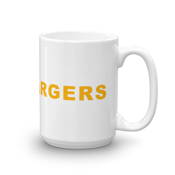 Go Chargers Football Hashtag Coffee Mug Gold