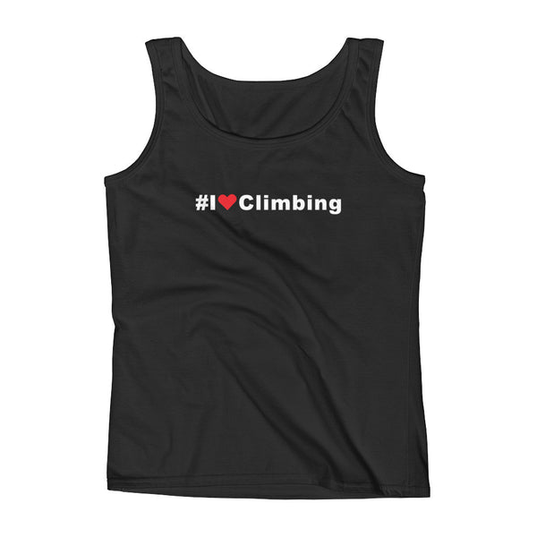 I Love Climbing Hashtag Womens Tank Top Black