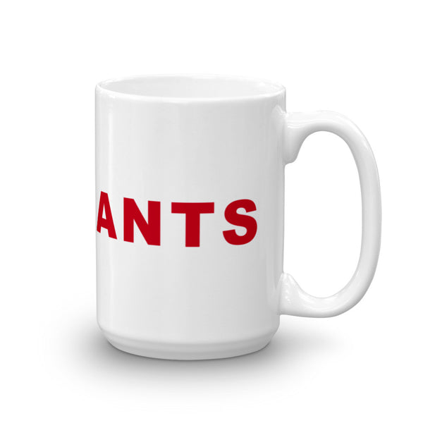 Go Giants Football Hashtag Coffee Mug Red