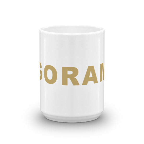 Go Rams Football Hashtag Coffee Mug Gold