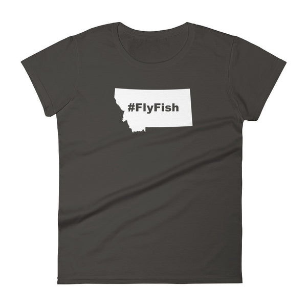Montana Fly Fish Hashtag Womens Shirt