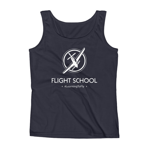 Learning to Fly Flight School Hashtag Womens Shirt