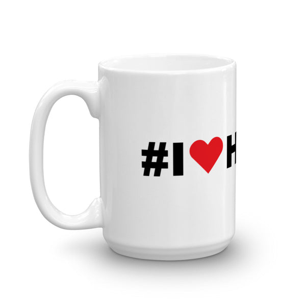 I Love Hiking Hashtag Coffee Mug