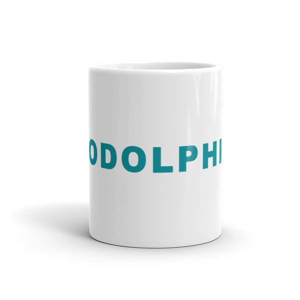 Go Dolphins Football Hashtag Coffee Mug Aqua