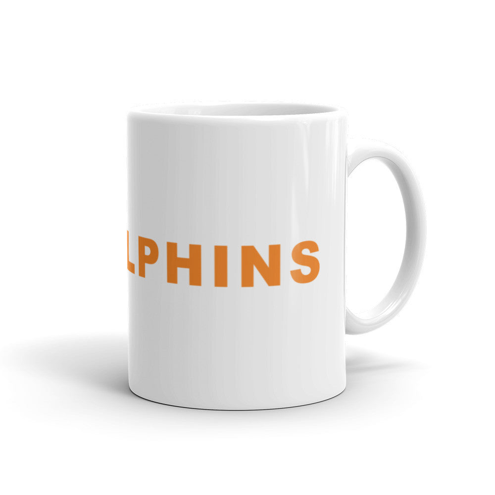 Go Dolphins Football Hashtag Coffee Mug Orange