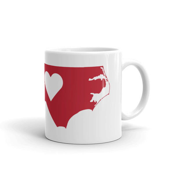 North Carolina Heart Coffee Mug