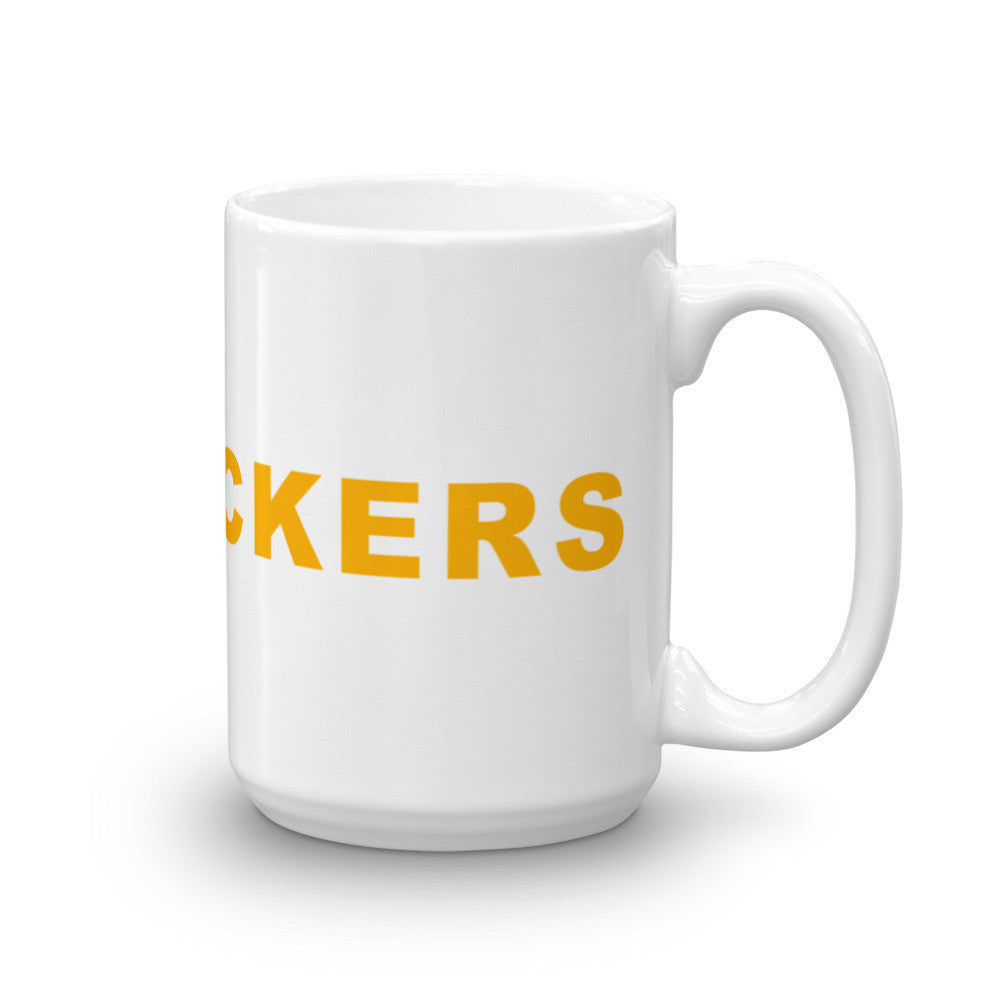 Go Packers Football Hashtag Coffee Mug Gold