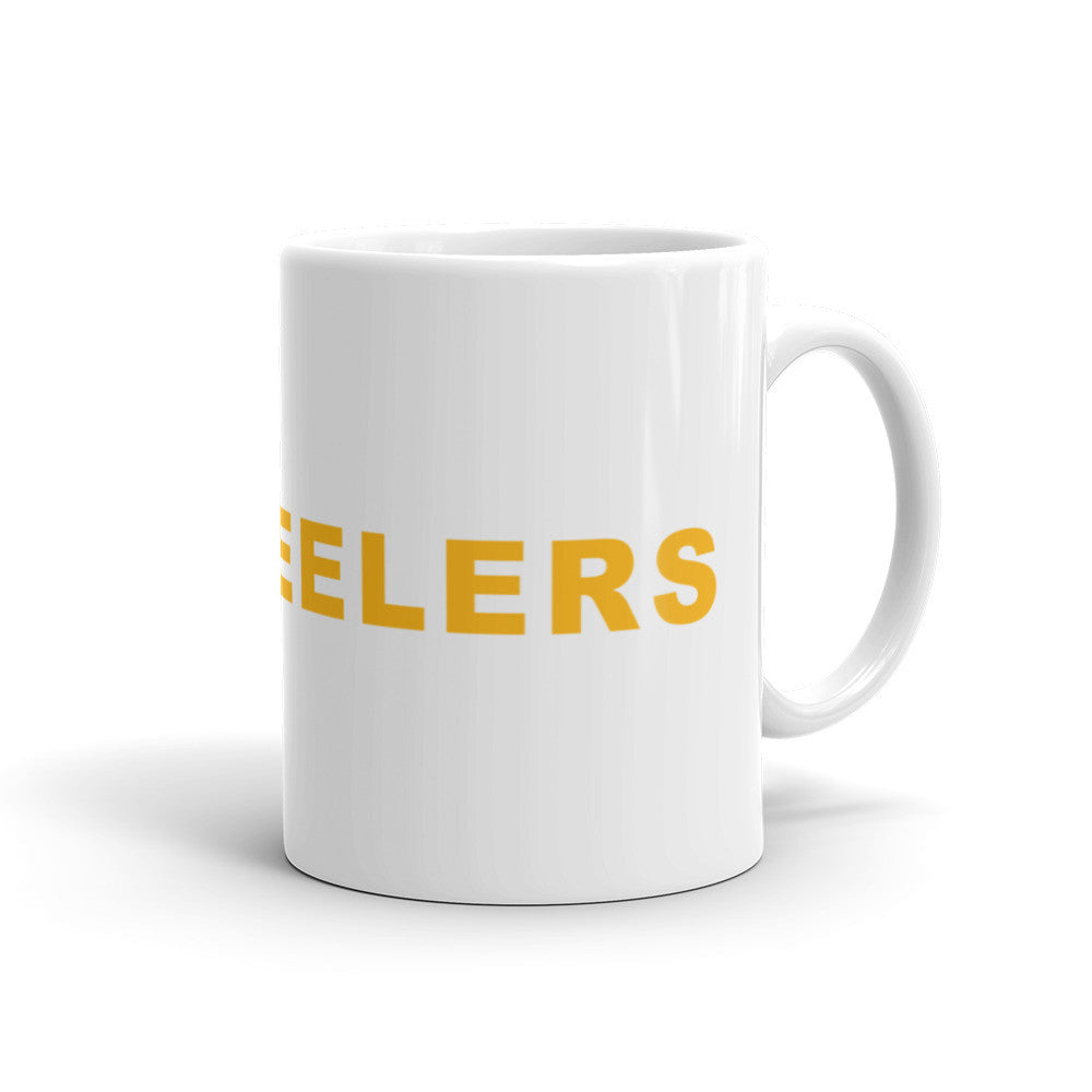 Go Steelers Football Hashtag Coffee Mug Gold