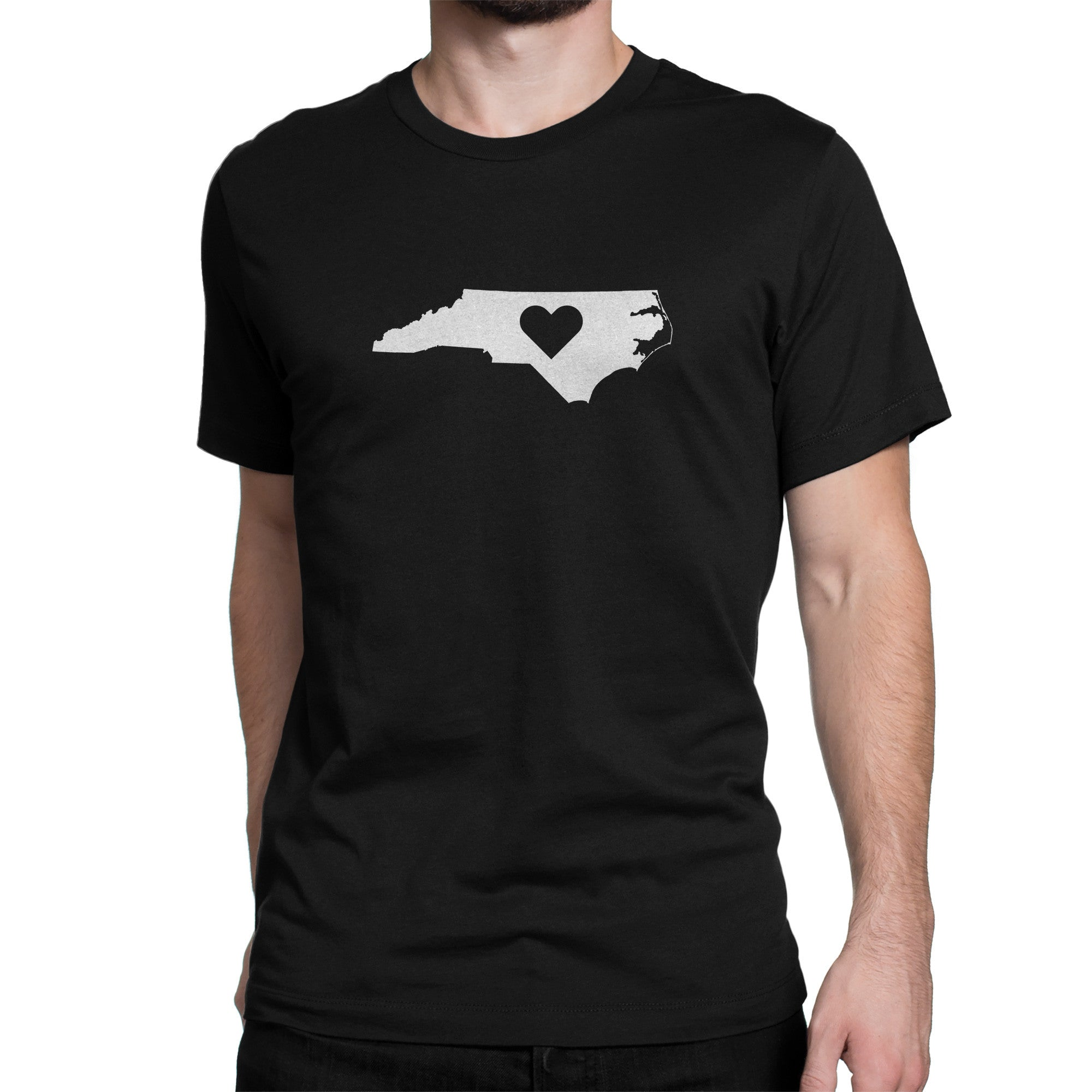 North Carolina State Heart Shirt Black