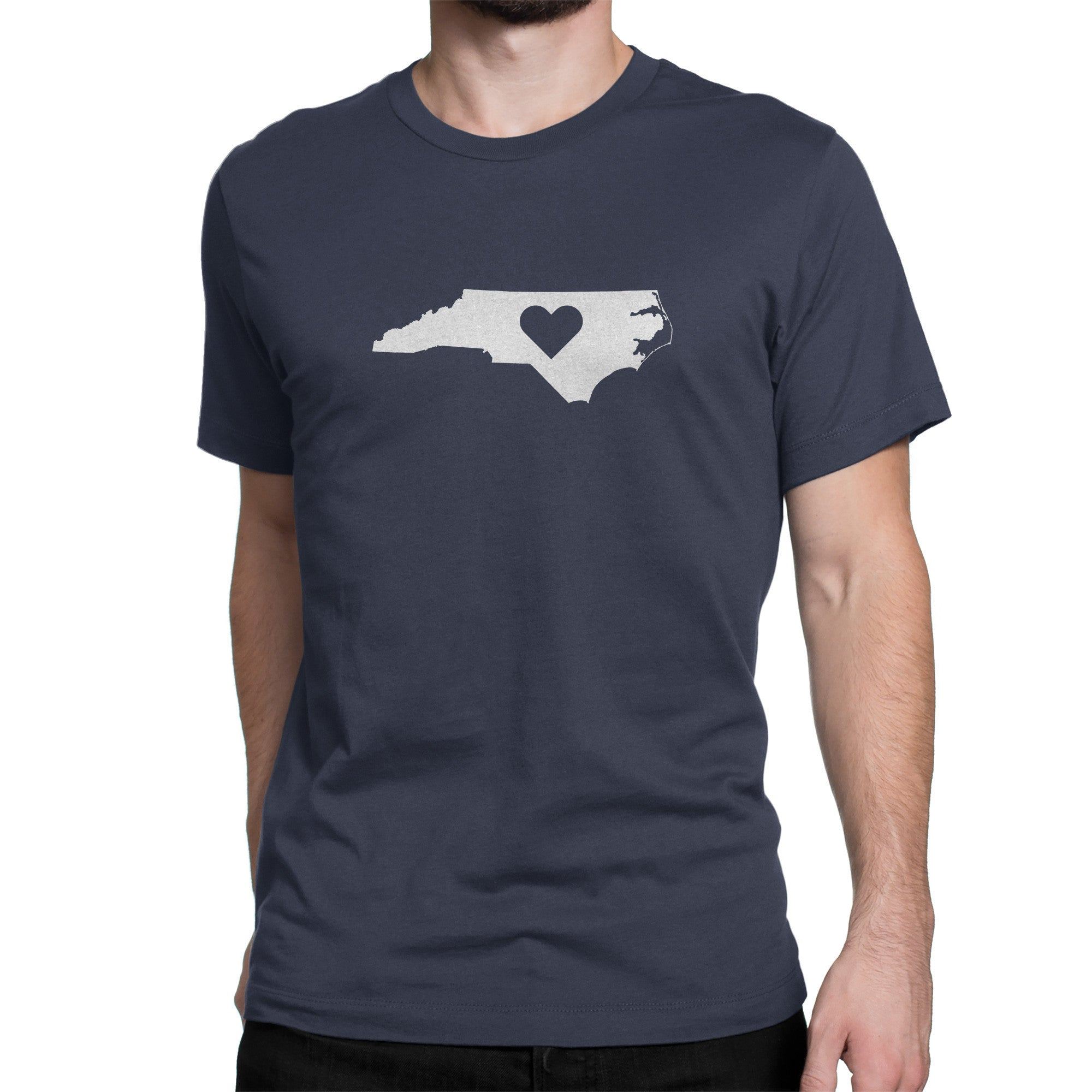 North Carolina State Heart Shirt Blue