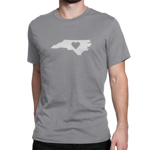 North Carolina State Heart Shirt Gray