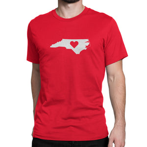 North Carolina State Heart Shirt Red