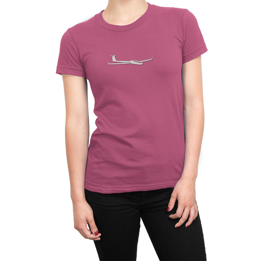 Womens Soaring Glider Airplane Shirt Light Pink