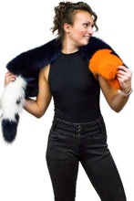 Load image into Gallery viewer, Multi Color Dyed Fox Fur Scarf