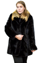 Load image into Gallery viewer, Mink Tail Jacket with Fox