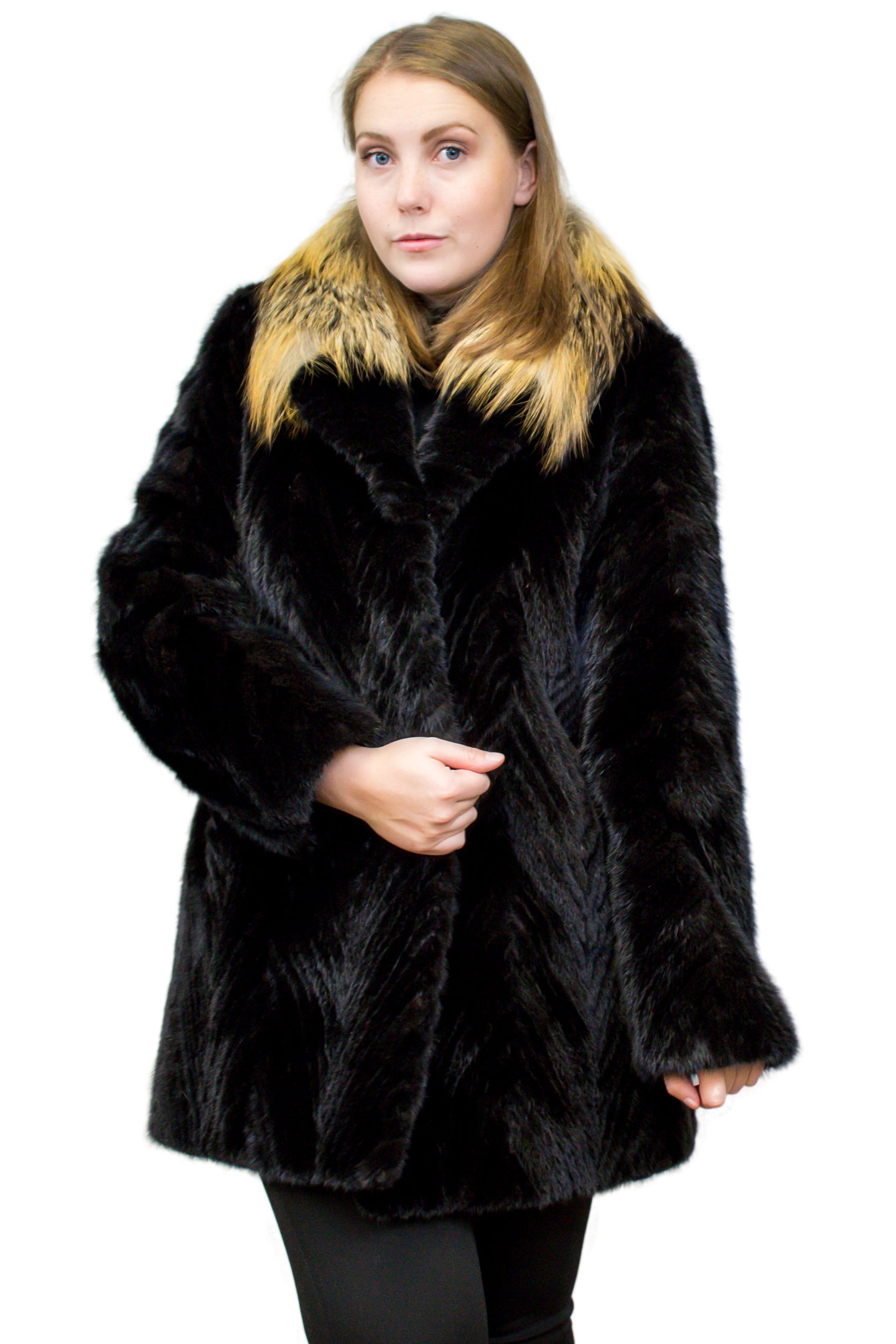 Mink Tail Jacket with Fox