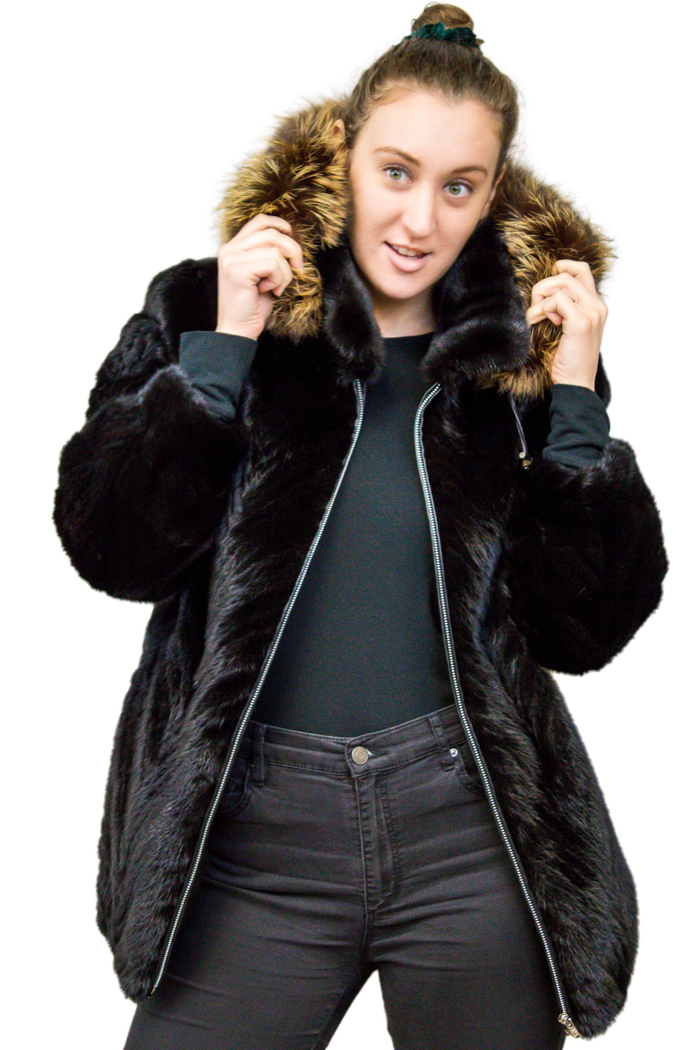 Mink Tail Jacket with Fox Fur