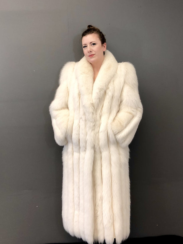 Vintage Shadow Fox Coat