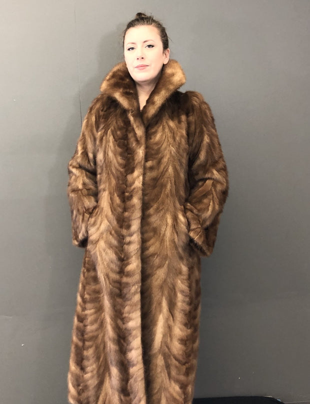 Vintage Natural Demi Buff Mink Paw Coat