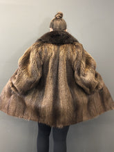 Load image into Gallery viewer, Vintage Natural Nutria Jacket with Fox Collar