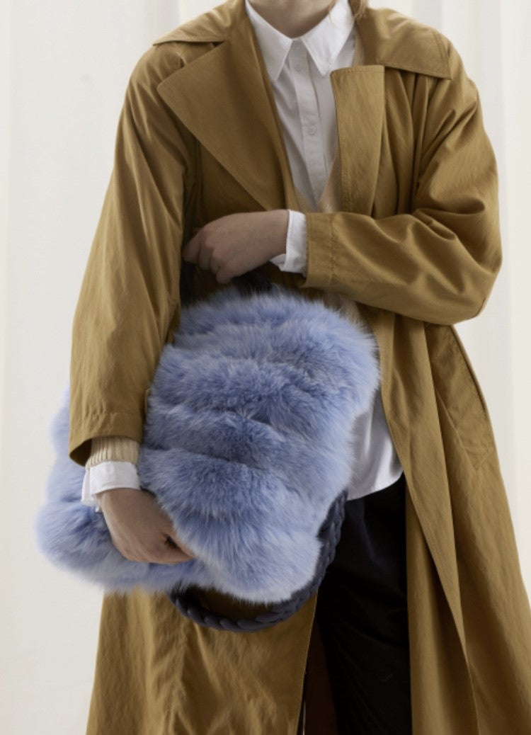 FUR BAG BABY BLUE DYED FOX
