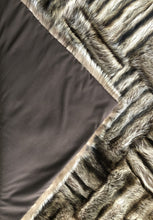 Load image into Gallery viewer, Raccoon Upcycled Fur Throw