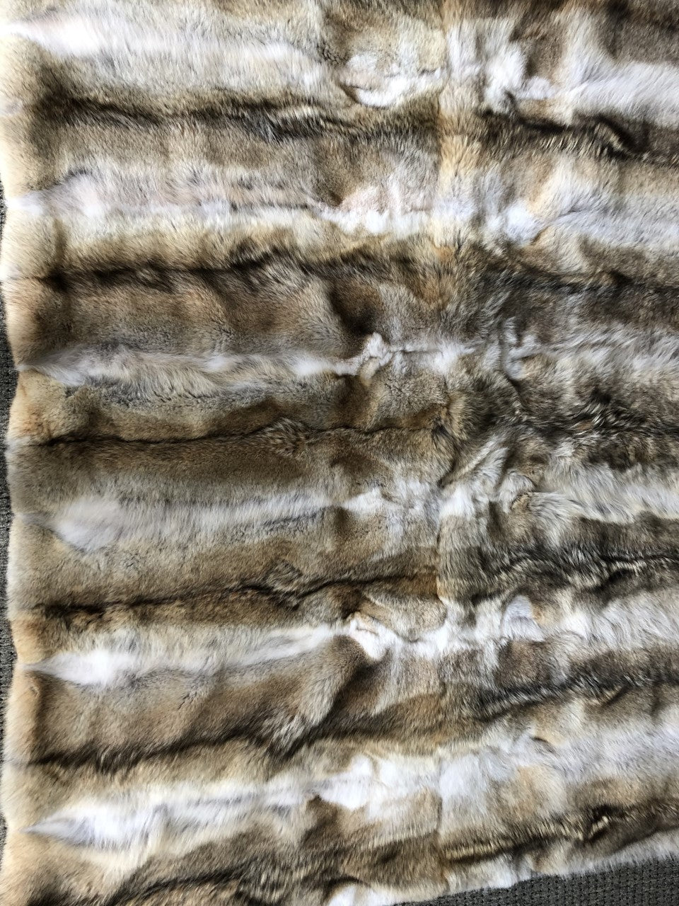 "Natural Full Pelt Coyote Blanket - Fur Throw 70""x 82"""
