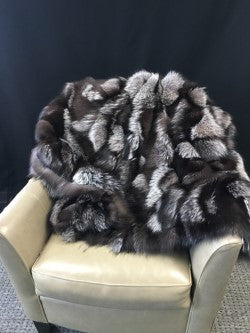"Natural Silver Fox Throw 43"" x 82"""