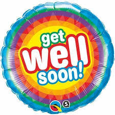 "18"" Helium 'Get Well Soon' Balloon"