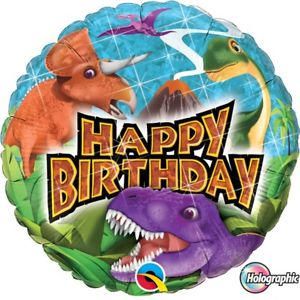 "18"" Helium 'Happy Birthday Dinosaur' Balloon"