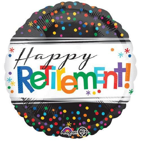 "18"" Helium 'Happy Retirement' Balloon"
