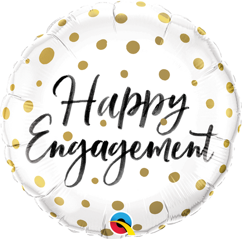 "18"" Helium 'Happy Engagement' Balloon"