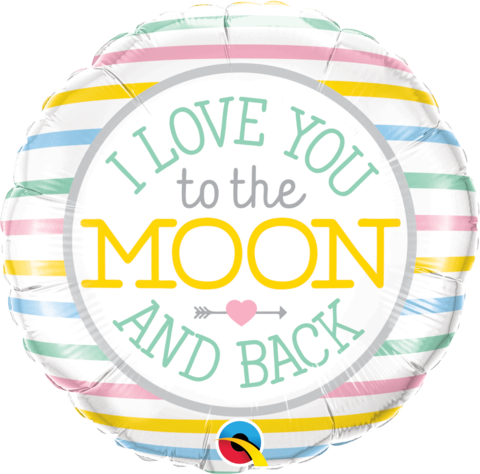 "18"" Helium 'Love you to the moon' Balloon"