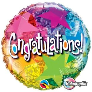 "18"" Helium 'Congratulations Bright' Balloon"