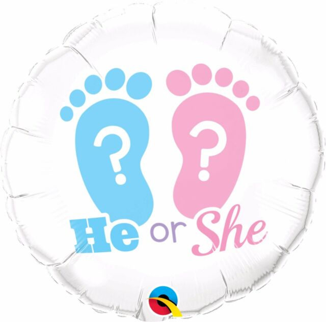 "18"" Helium 'He or She' Balloon"