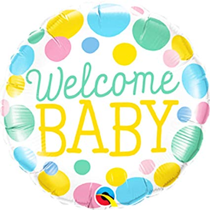 "18"" Helium 'Welcome Baby' Balloon"