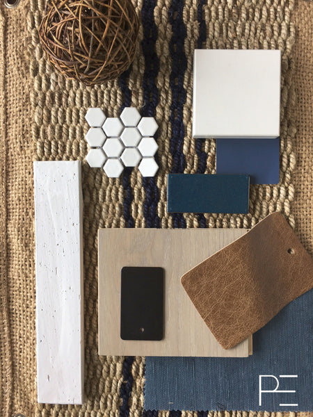 plankd, plankdedit, brick house, blue and white, brick tile, hexagon tile, blue tile, navy, natural, sisal, wood flooring