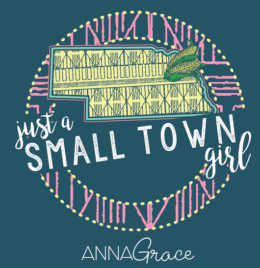 Nebraska Small Town Girl - Short Sleeve