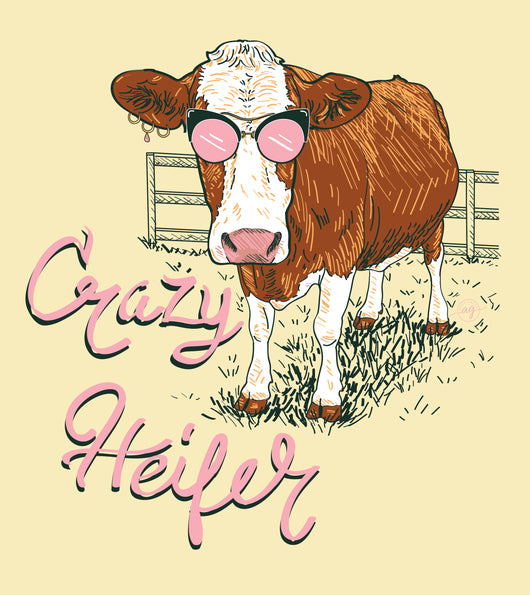 Crazy Heifer - Short Sleeve