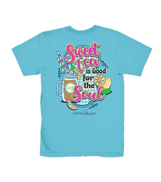 Sweet Tea Soul- Short Sleeve- Lagoon Blue