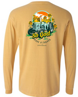So God Made- Long Sleeve- Mustard