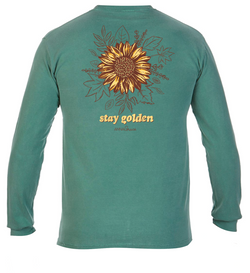 Golden Sunflower- Long Sleeve- Light Green