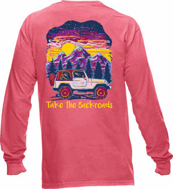 Take The Backroads- Long Sleeve- Watermelon